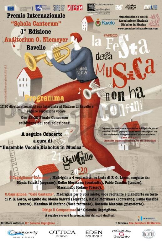 Auditorium Oscar Niemeyer Festa della Musica, domenica 21 giugno ore  Finale del Premio internazionale Schola Cantorum ore 18.00
