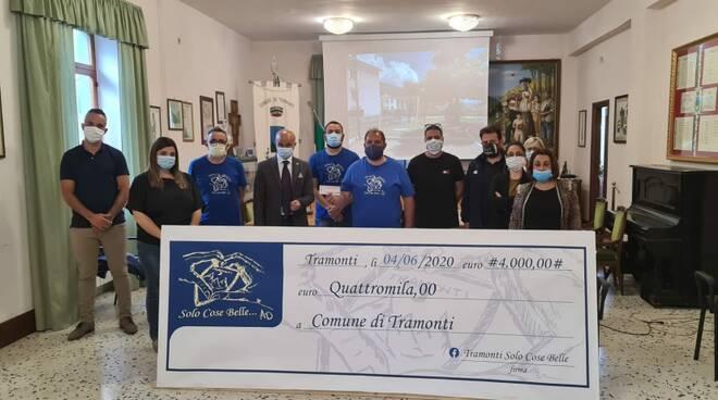 donazione 4000 euro tramonti