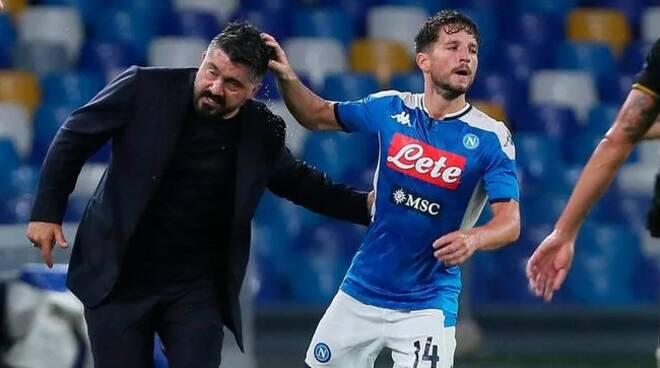Il Napoli in finale contro la Juventus, Mertens risponde a Eriksen