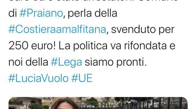 Lucia Vuolo chiede intervento Prefetto a Praiano