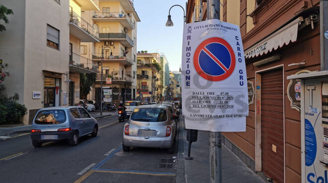 piano di sorrento disposizioni riqualificazione strade e marciapiedi corso italia