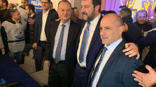 Positano Michele De Lucia Sindaco Lega con Salvini