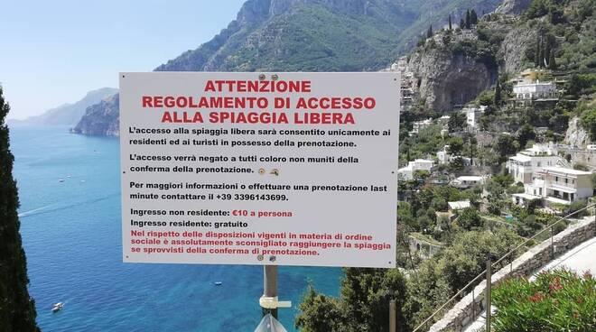 Positano spiagge libere a pagamento ad Arienzo