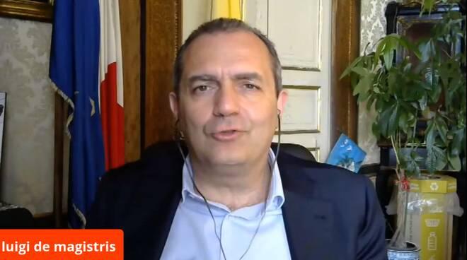positanonews tg de magistris sindaco napoli