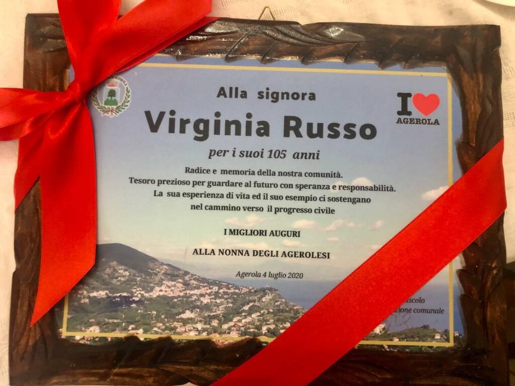 Agerola festeggia Virginia Russo che compie oggi 105 anni
