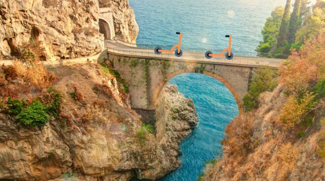 Mobilità sostenibile su due ruote in Costa d\'Amalfi