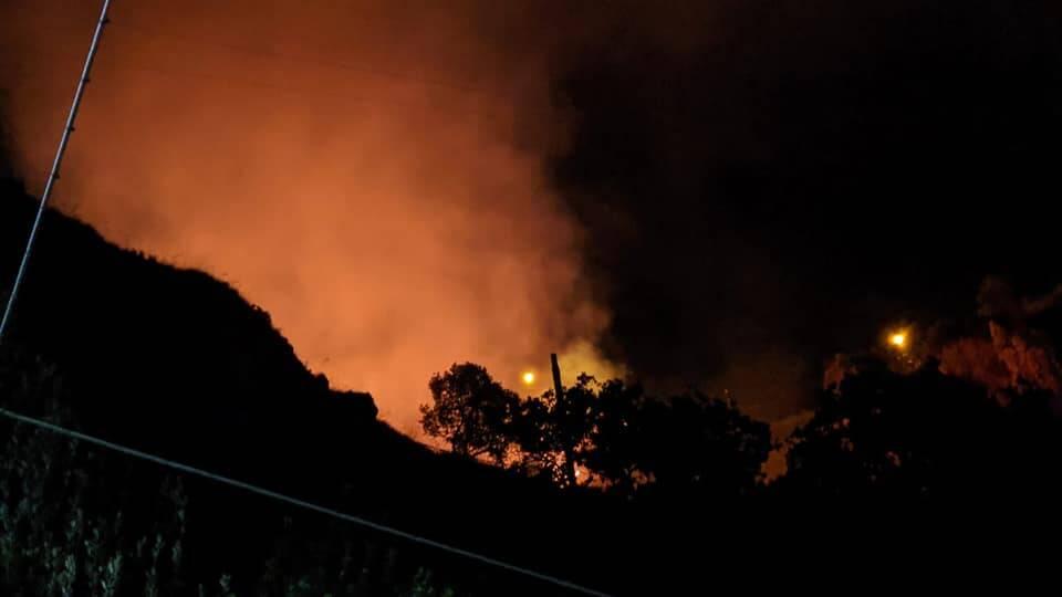 Incendio Conca dei Marini 26 luglio 2020