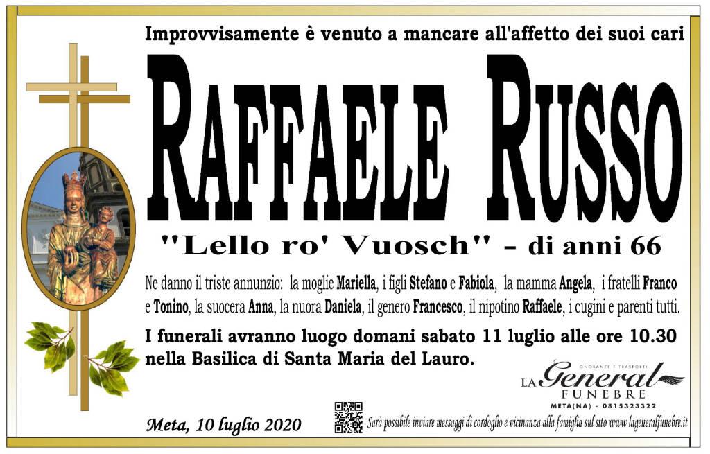Meta in lutto. Improvvisamente è venuto a mancare Raffaele Russo, detto Lello ro' Vuosch. Aveva 66 anni