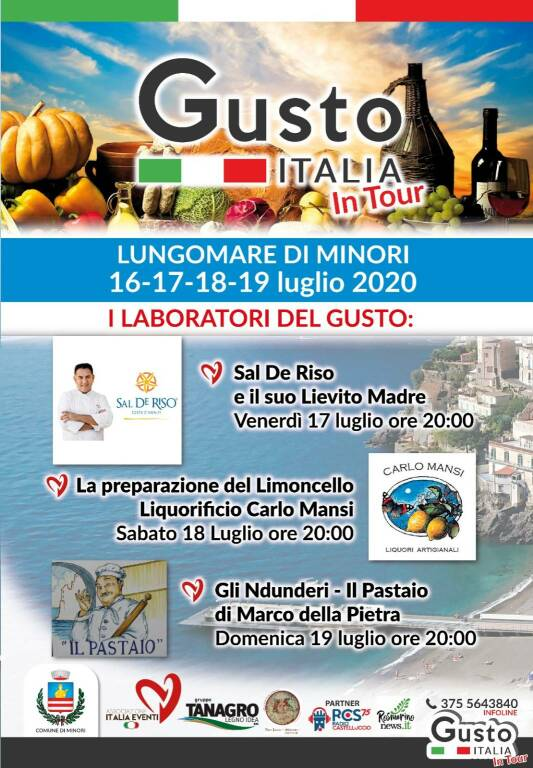 minori gusto italia in tour