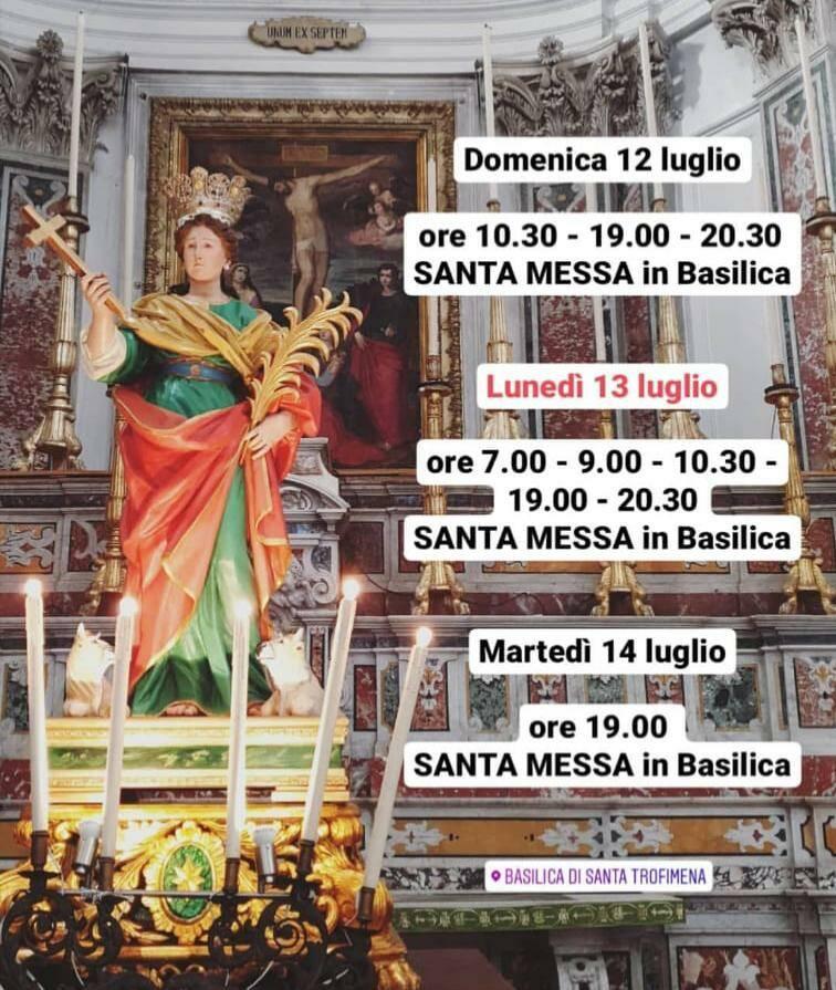 Minori il 13  luglio festeggia santa Trofimena. Il culto della Santa in Costiera