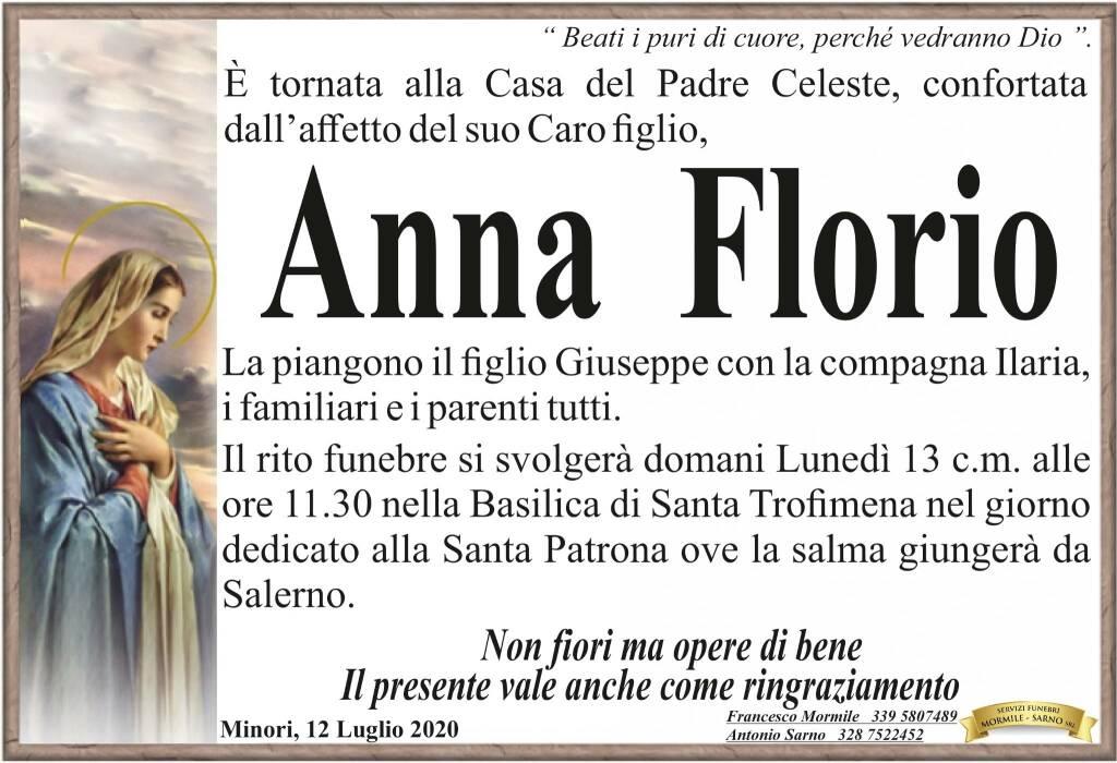 Minori piange la perdita di Anna Florio