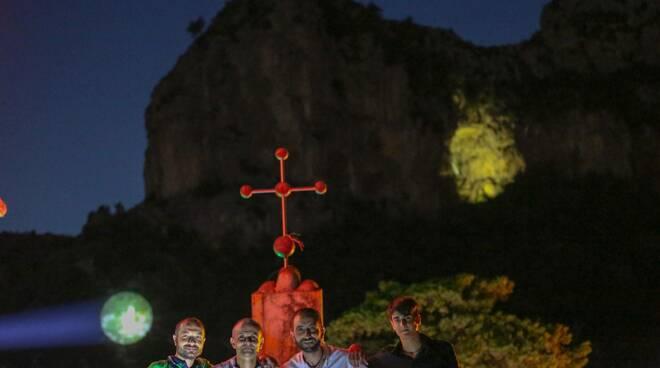 Positano messa Vescovo Fusco a Montepertuso