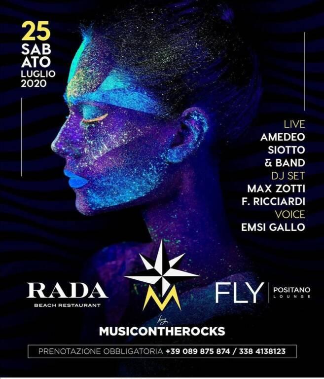 Positano. Sabato 25 luglio con una serata di musica live al Rada e Music on the Rocks