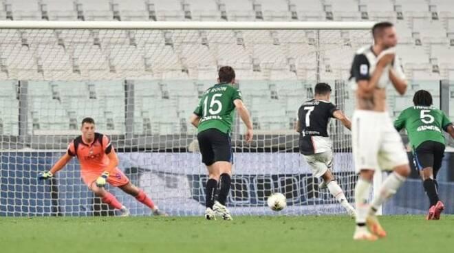 Rigore di Ronaldo Juve Atalanta