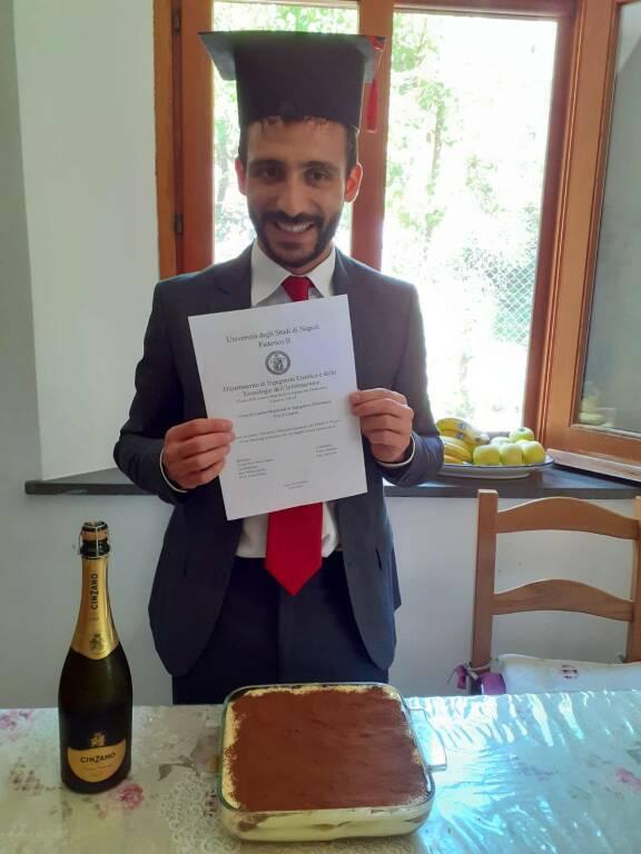 Sorrento. Auguri a Franco Ercolano per la laurea in Ingegneria Elettronica