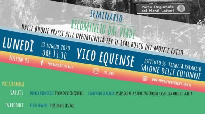 """Vico Equense: Monte Faito,  seminario """"Ricominciamo dal Verde"""""""