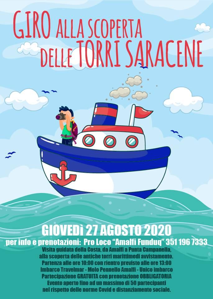 """Amalfi. Domani il via al """"Giro alla scoperta delle Torri Saracene"""""""