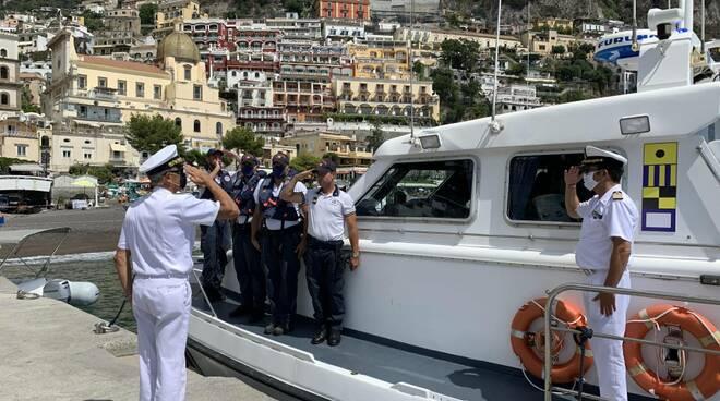 Ammiraglio Ispettore Capo Giovanni Pettorino, presso gli Uffici locali marittimi della Costiera Amalfitana.