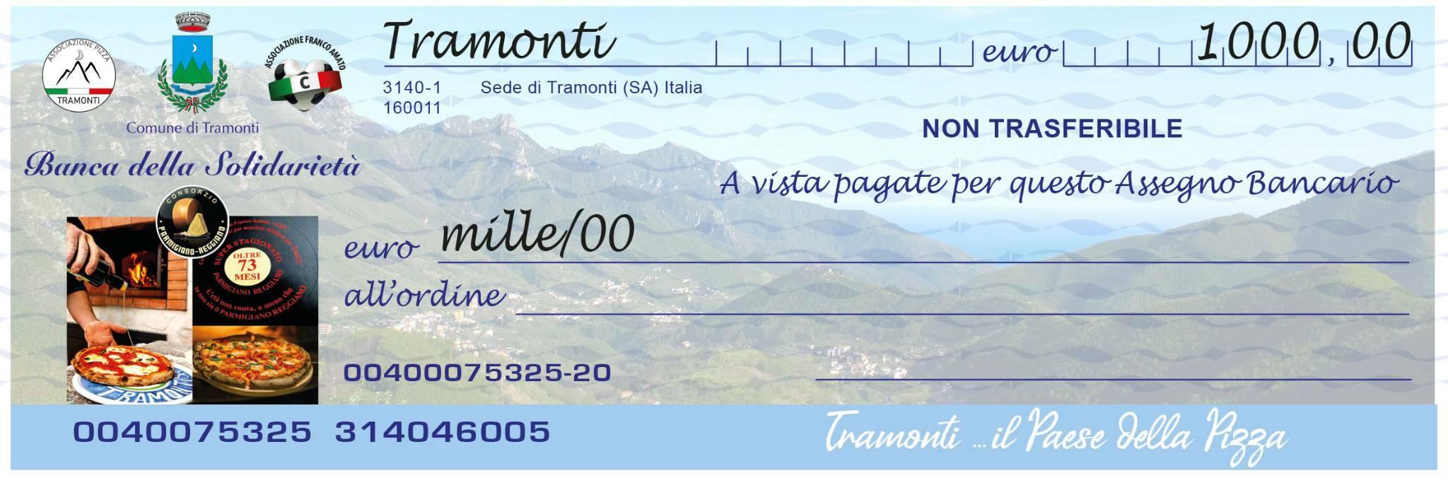 Associazione Pizza Tramonti: raccolta fondi a sostegno del Comune di Tramonti e dell'Ass. Franco Amato