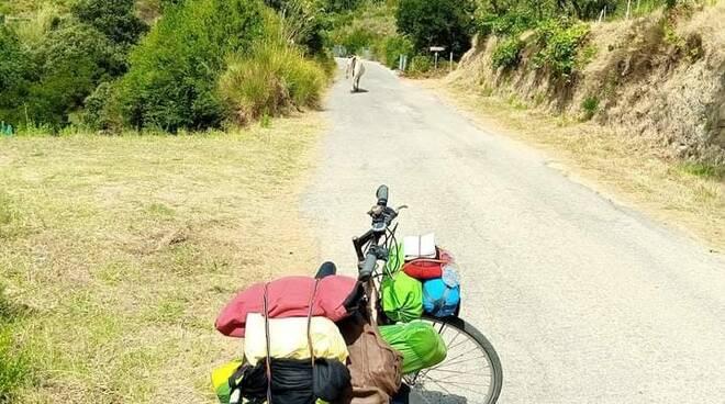 Bicicletta in solitario nel Cilento