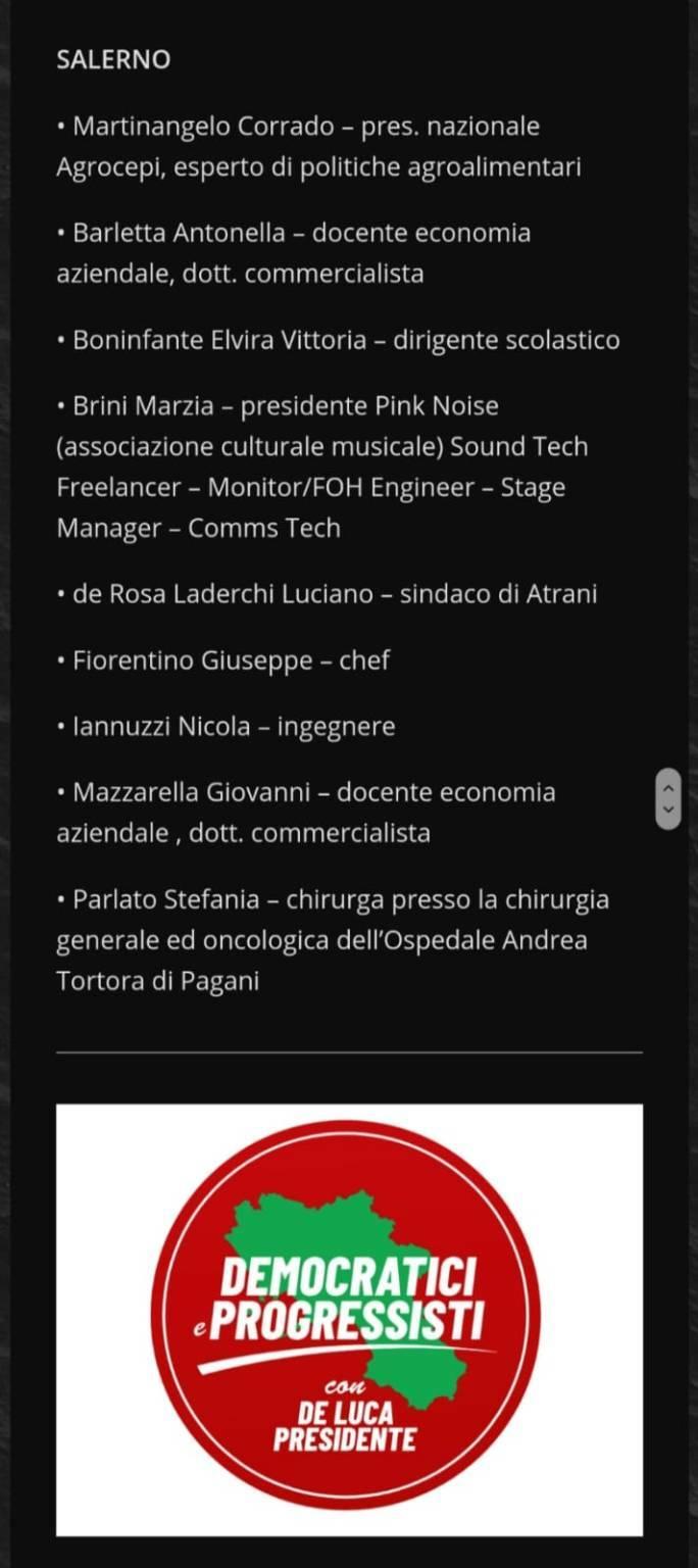 Candidato alla Regione Campania De Rosa
