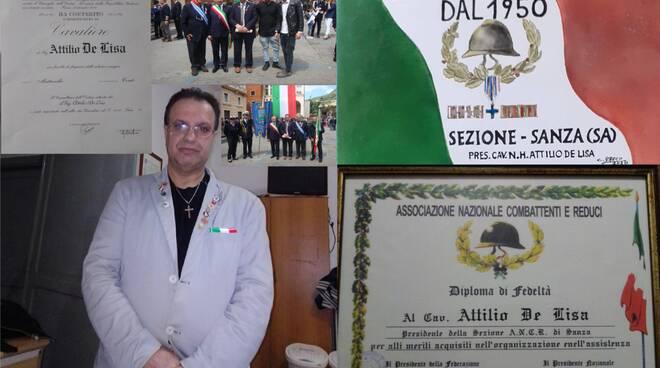 Targa commemorativa dei 70 anni di vita dell\'Associazione Nazionale Combattenti e Reduci Sezione Comune di Sanza Federazione di Salerno