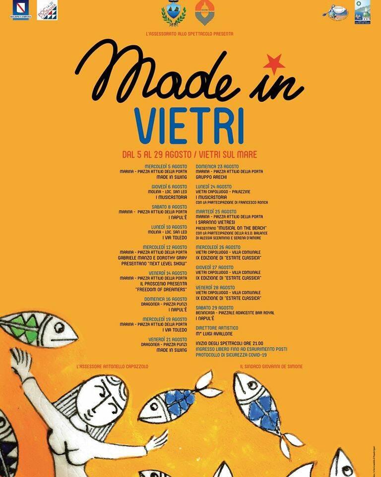 """Comincia l'estate """"Made in Vietri"""": spettacoli gratuiti per tutto il mese di agosto"""