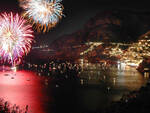 Fuochi d'artificio a Positano