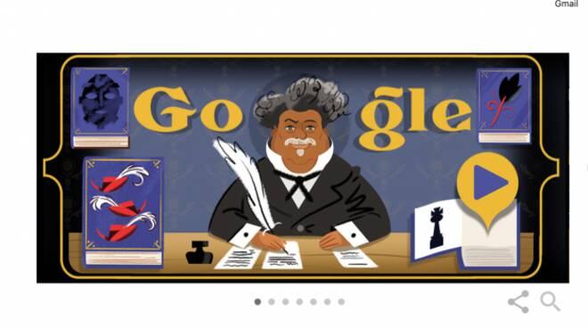 Il doodle di google celebra Alexandre Dumas