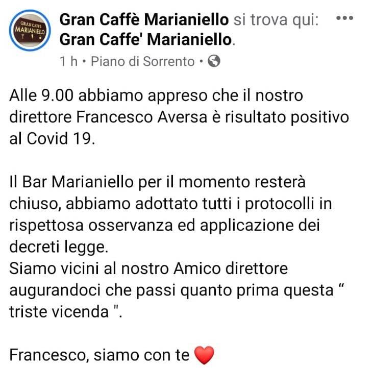 marianiello direttore positivo covid-19