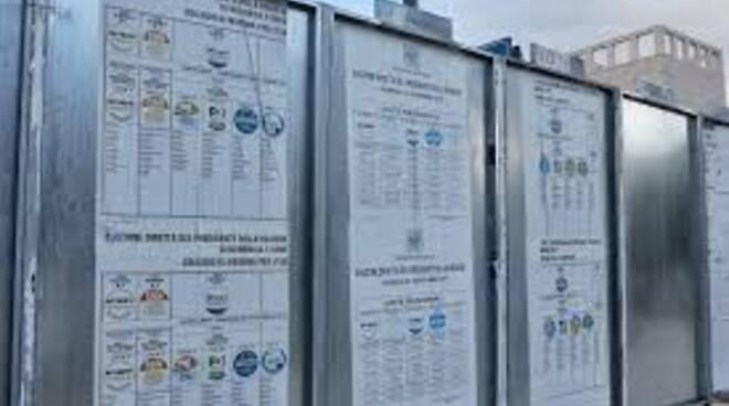 Minori: i cartelloni elettorali ed il mare