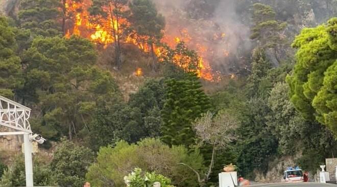 Praiano incendio