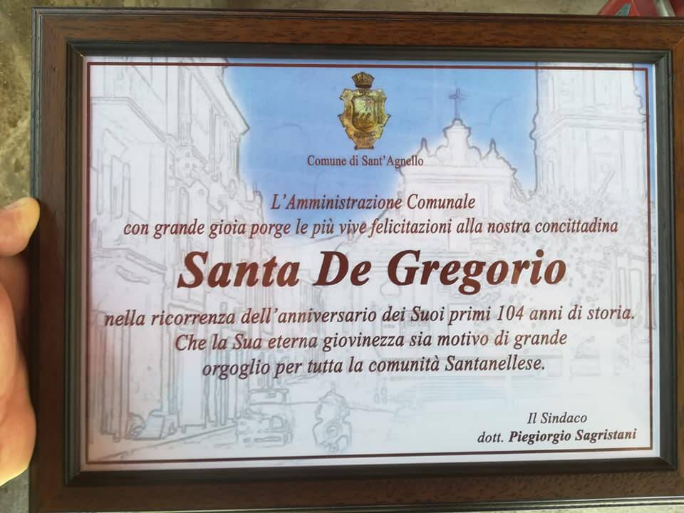 santa de gregorio sant'agnello