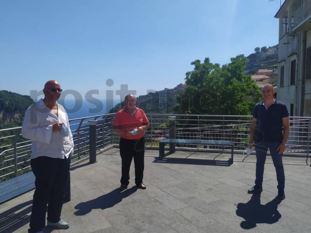 Scala col sindaco Luigi Mansi e Giordano