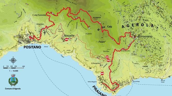 Sentieri interdetti fra Agerola Positano e Praiano
