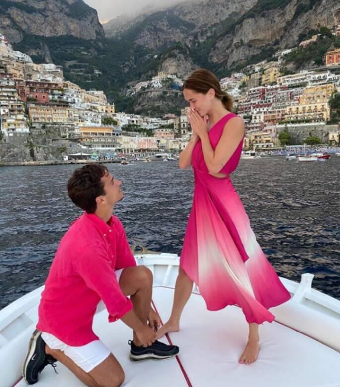 Vacanze tra Positano e Ravello anche per l'influencer Rianne Meijer