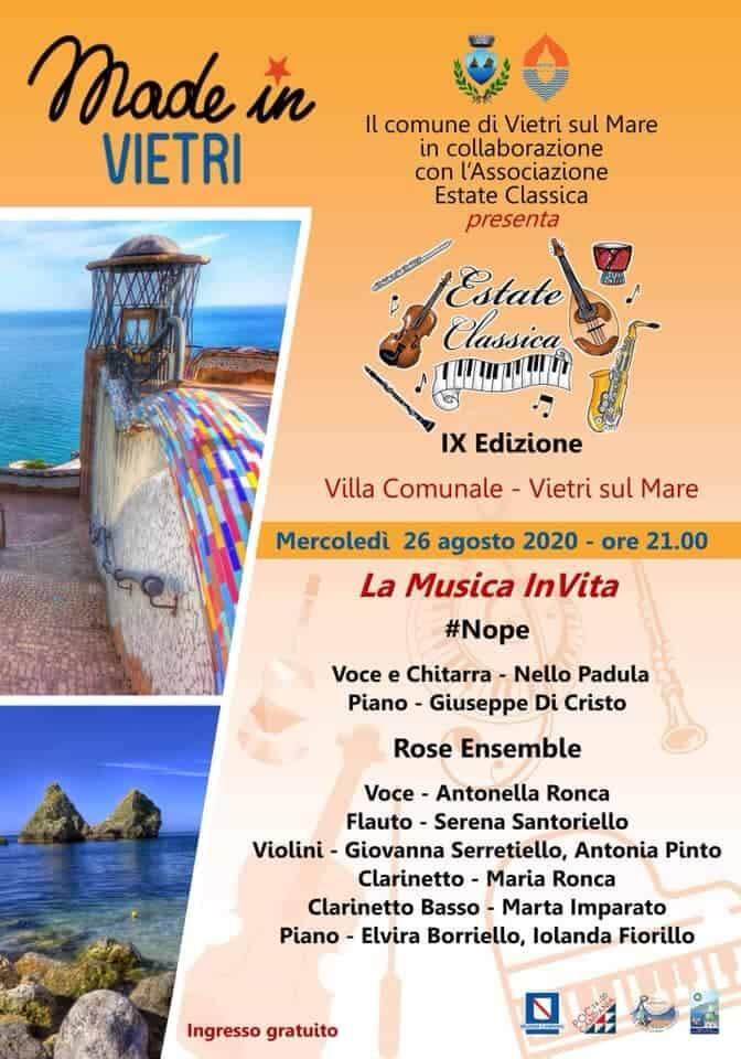 """Vietri sul Mare. Parte oggi la nona edizione di """"Estate Classica"""""""