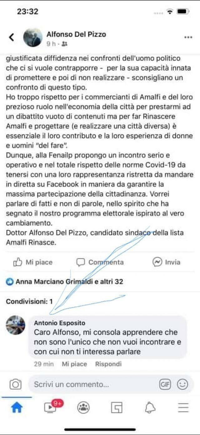 Amalfi. Grana per Alfonso Del Pizzo