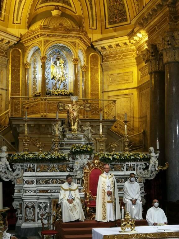 Arturo Aiello Vescovo a Piano di Sorrento San Michel e
