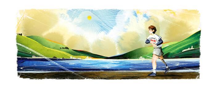 Doodle di Google oggi dedicato all'atleta canadese Terry Fox