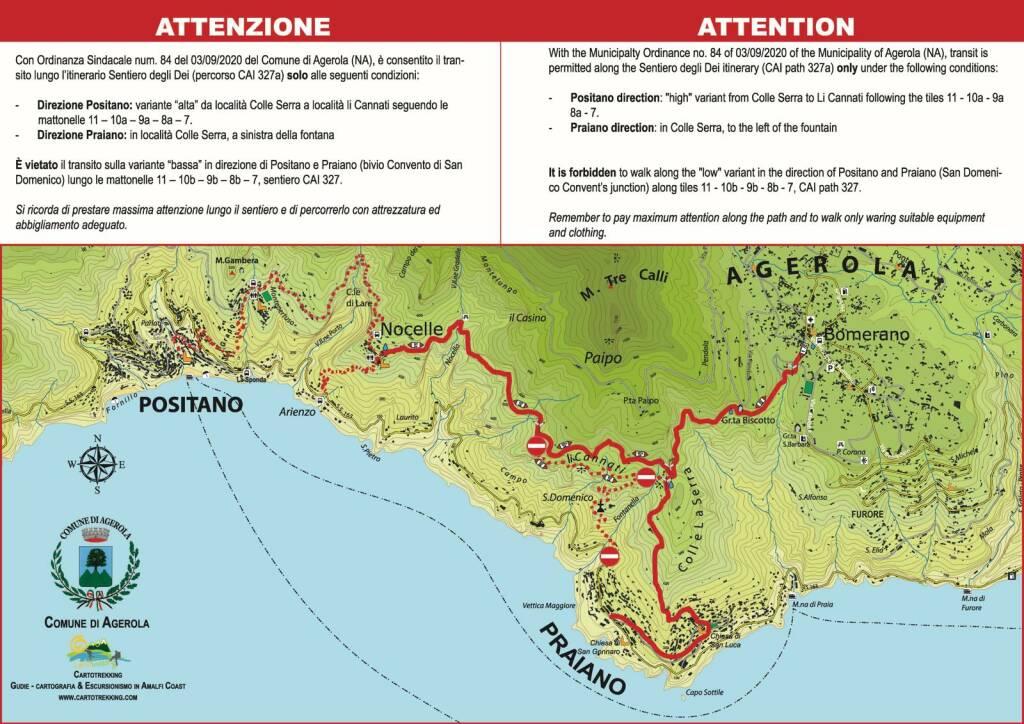 Good news da Agerola: pronta la riapertura del Sentiero degli Dei