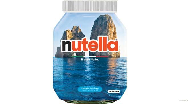 L'Italia vista da un barattolo di Nutella per la Campania i Faraglioni di Capri