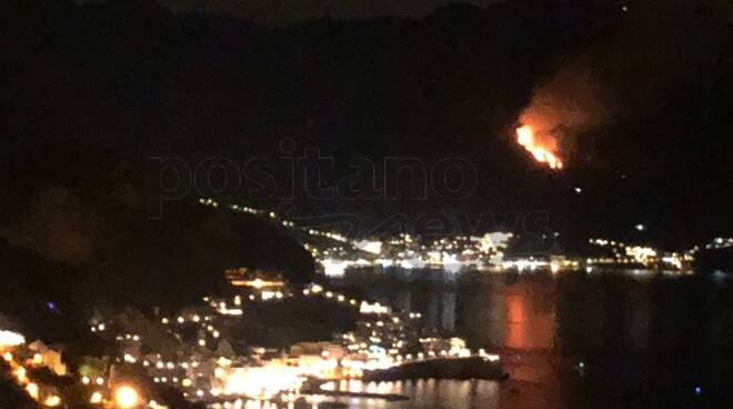 #Maiori ancora un incendio dopo #Tramonti anteprima Positanonews