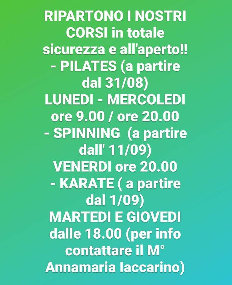Meta. Il karate riparte in sicurezza ed all'aperto da Gymmy Fitness Club