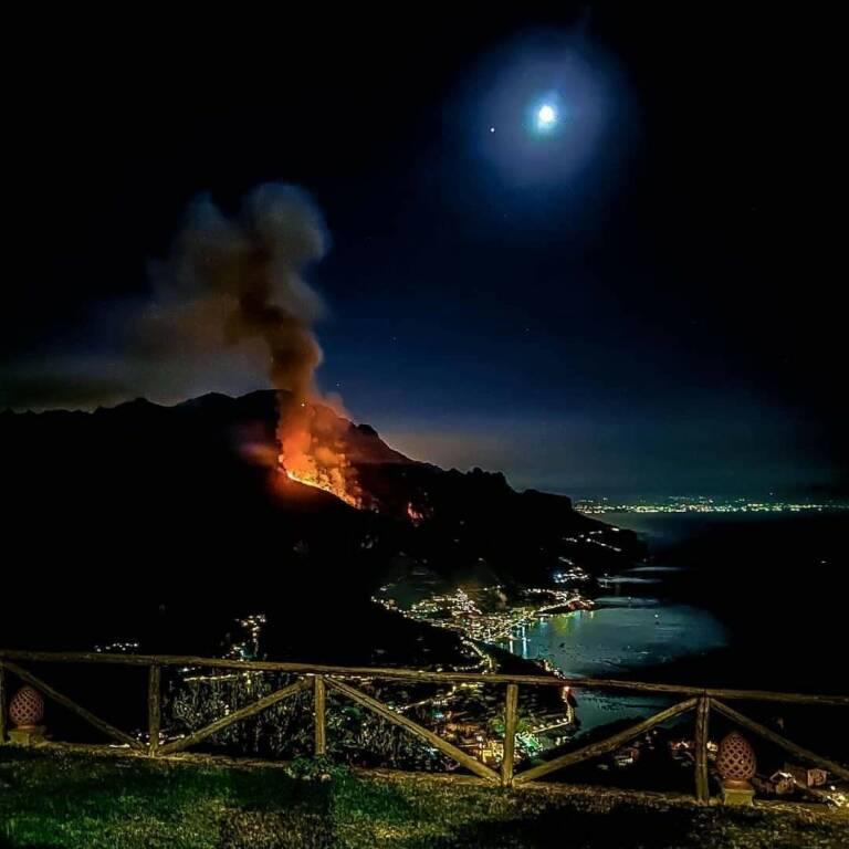 Michele Abagnara incendio a Maiori