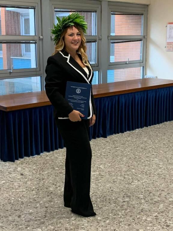 Piano di Sorrento. Auguri a Cristiana M. C. Grazioli per la sua laurea magistrale!