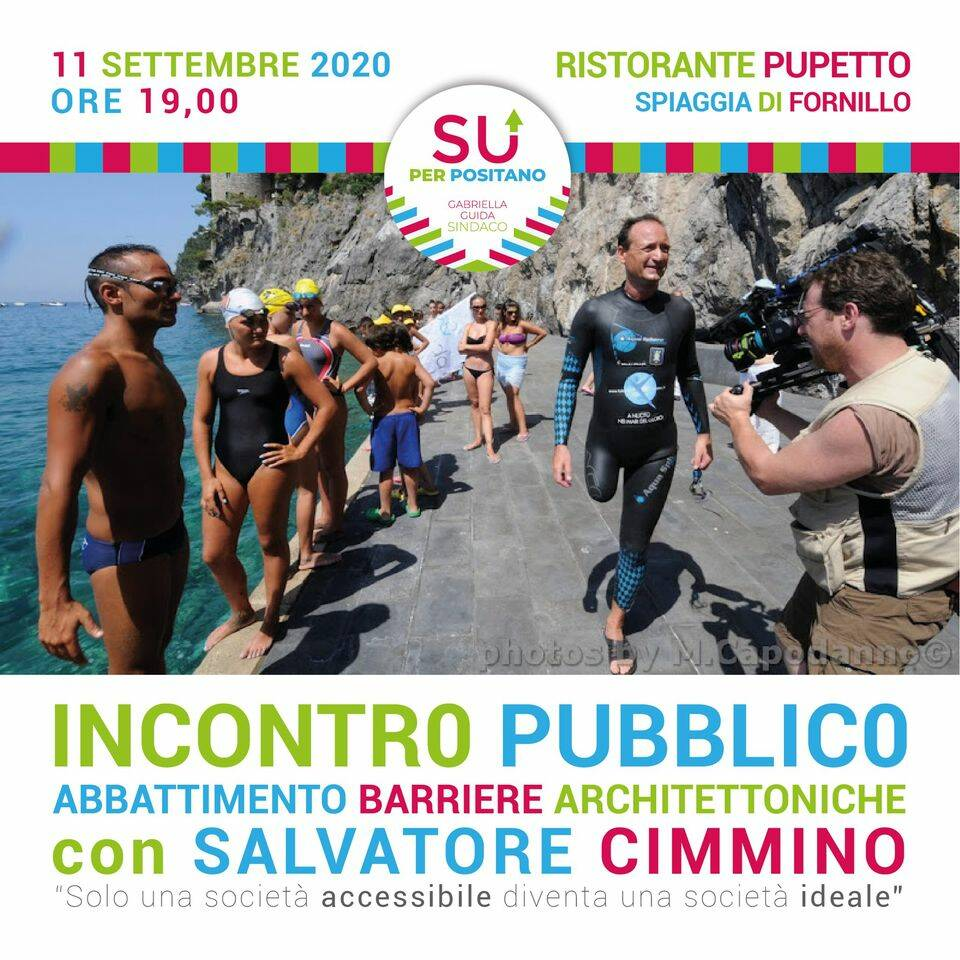 Positano. Veberdì 11 settembre l'incontro con Salvatore Cimmino, impegnato per i diritti delle persone con disabilità