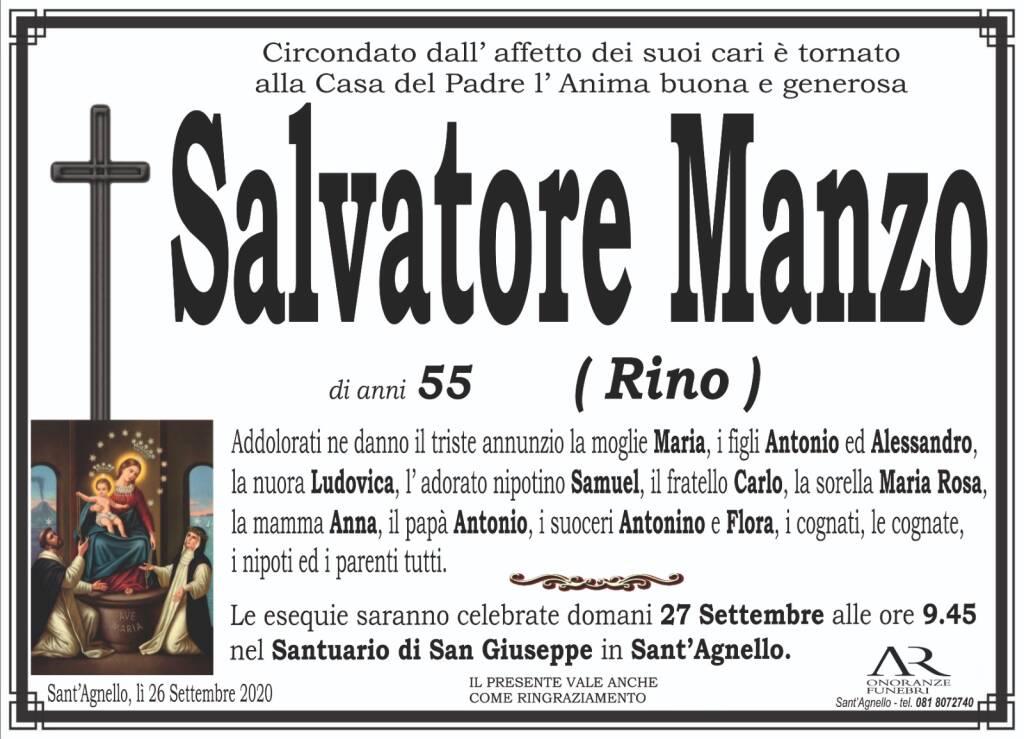 Sant'Agnello in lutto. All'età di 55 anni si è spento Salvatore Manzo, detto Rino