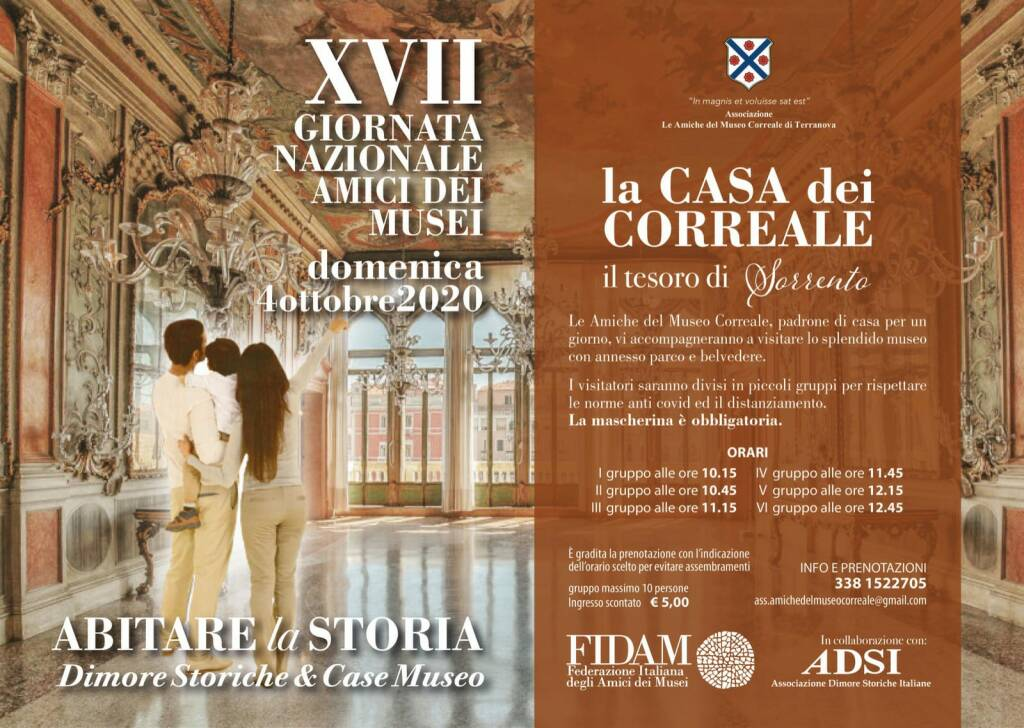 Sorrento. Abitare la storia: la casa del Correale, domenica 4 ottobre la XVII Giornata Nazionale Amici dei Musei