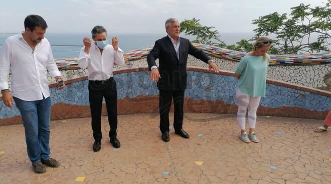 Vietri sul Mare. Incontro centro destra Meloni, Tajani e Salvini con il candidato alla Regione Stefano Caldoro